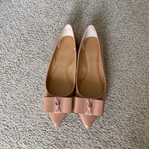 J Crew Bow Patent Leather Flats Size 7